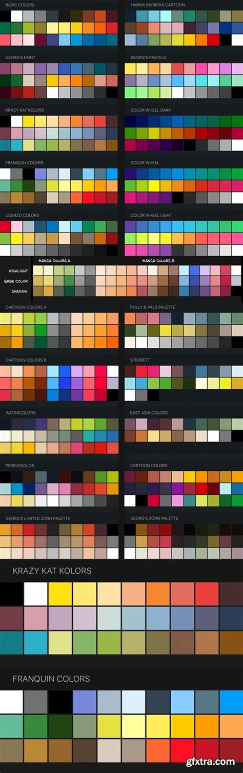 Procreate Color Swatches: 22 Palettes for Painting and