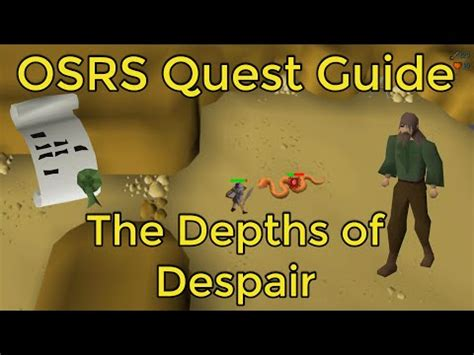 OSRS - The Depths of Despair Quest Guide - YouTube
