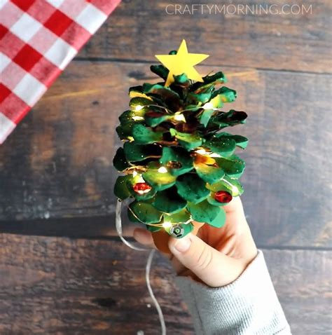 Potted Pinecone Christmas Trees - Crafty Morning