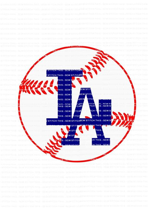 Library of dodgers baseball clipart royalty free download