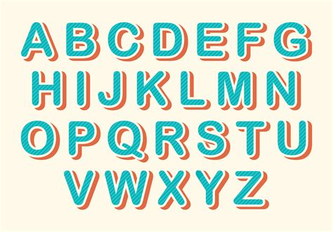 Free Rounded Retro Alphabet Vector - Download Free Vector