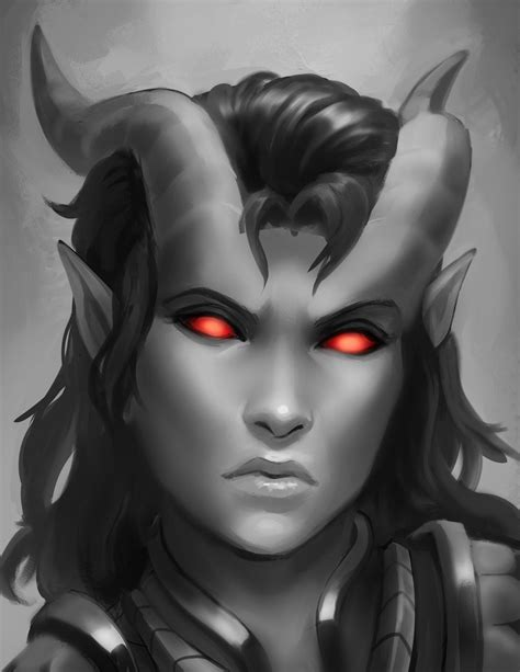 Here to Raze Hell - Warden, tiefling paladin of the Oath