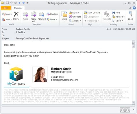 Add signatures to email from Office 365, Outlook and Gmail
