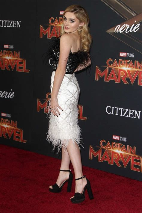 meg donnelly attends the world premiere of 'captain marvel