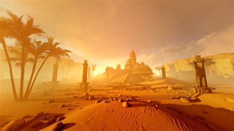 Ancient Pyramid In The Desert by animix   VideoHive
