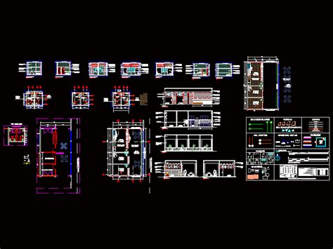 Restaurant and bathroom in AutoCAD | CAD download (818