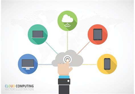 Free Cloud Computing Vector Concept - Download Free