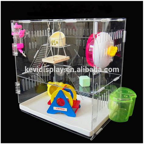 2017 Luxury Clear Acrylic Hamster Cage With Ventilation