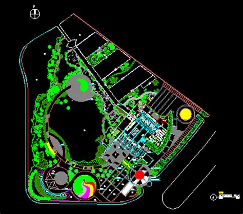 Small park in AutoCAD | Download CAD free (1