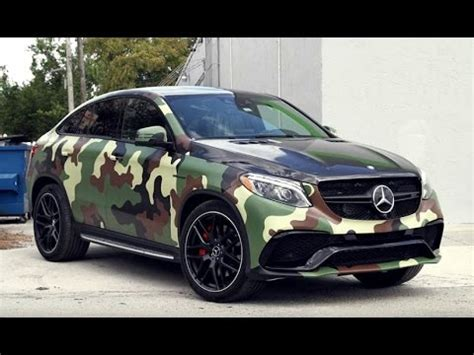 Camo-Wrapped Mercedes GLE Coupe - YouTube