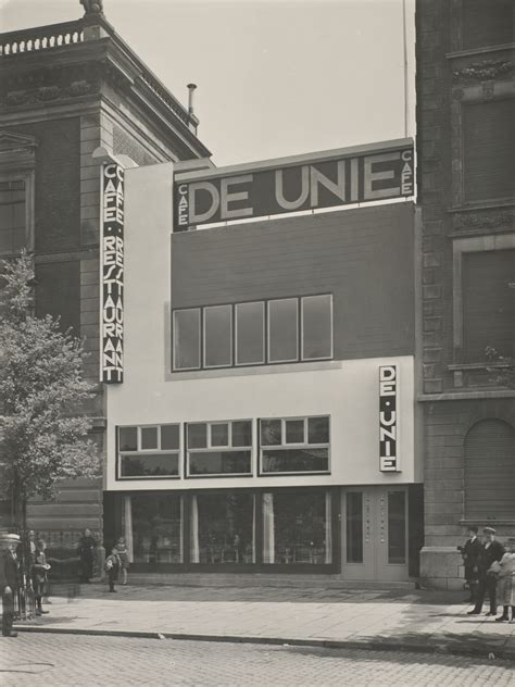 View of Cafe de Unie in Rotterdam, designed by the