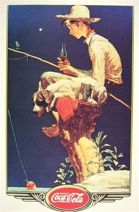 """""""Out Fishin"""" 1935 by Norman Rockwell 