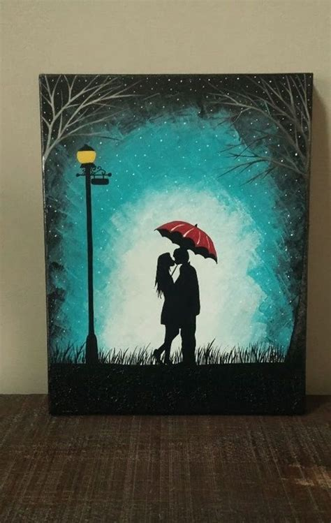 40 Easy Canvas Painting Ideas For Art Lovers   Lovers art