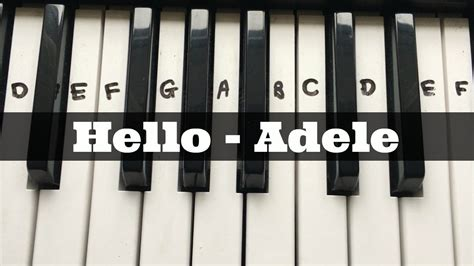 Hello - Adele | Easy Keyboard Tutorial With Notes (Right