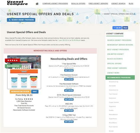 Usenet Special Offers and Deals : UsenetCompare