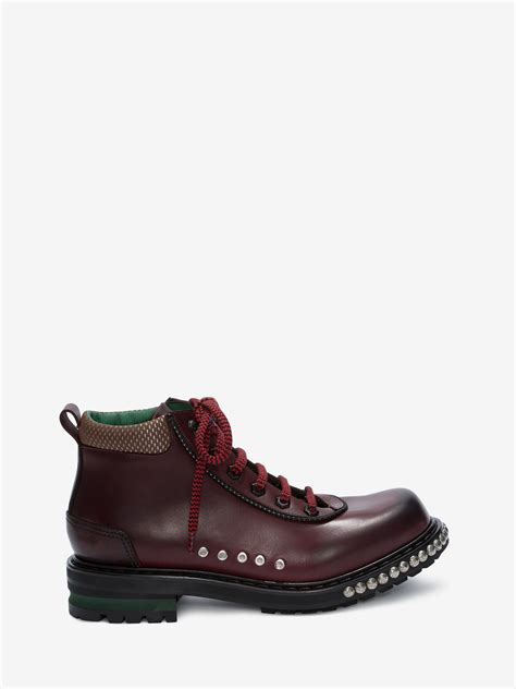 Studded Hiking Boot - Alexander McQueen Shoes Online Store